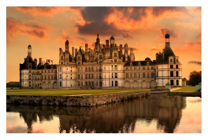 Модульная картина Замок на закате