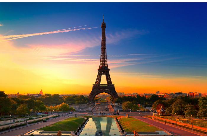 Диптих в интерьер Париж на закате