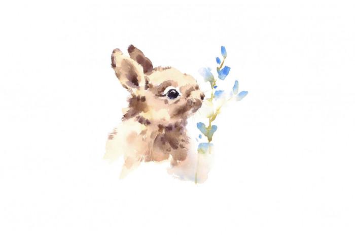 Картина Кролик и веточка