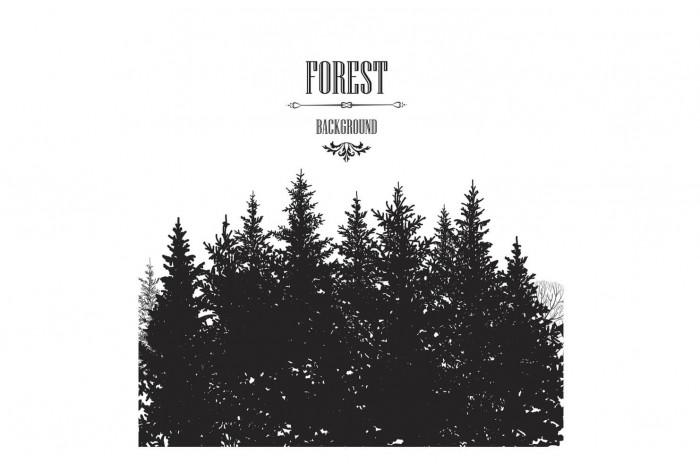 Картина Лесной фон